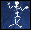 Chenille   Stem Skeleton  : Skeleton Crafts for Kids