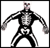 Mr.   Bones Costume  : Make Spooky Skeletons for Halloween