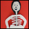 Wooden    Spoon Skeleton Puppet   : Halloween Skeleton Crafts for Children