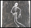 Crayon   Etching Skeleton  : Skeleton Crafts for Kids