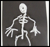 Wool   Skeleton   : Halloween Skeleton Crafts for Children