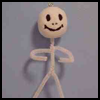 Pipe   Cleaner Skeleton  : Making Scary Skeletons Arts and Crafts Projects