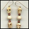 Skull   Bead and Stone Earrings   : Halloween Skeleton Crafts for Children
