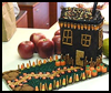 Edible   Haunted House  : Halloween Haunted House Craft Idea for Kids