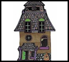 Haunted   House  : Halloween Haunted House Craft Idea for Kids