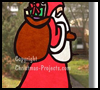 Stained    Glass Paper Window Decoration   : Santa Clause Crafts for Christmas