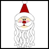Paper   Plate Santa Windsock   : Santa Clause Crafts for Christmas