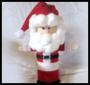 Potato   Chip Can Santa   : Santa Clause Crafts for Christmas