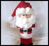 Potato Chip Can Santa : Santa Clause Crafts for Christmas