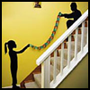 Silhouette   Garland   : Silhouettes Crafts Projects for Children