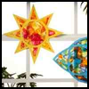 Tissue   Paper Star   : Suncatcher Crafts Ideas & Projects