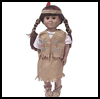 "Native   American Doll Costume <span class=""western"" style="" line-height: 100%""> : American Indians Arts and Crafts Projects for Children</span>"