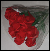 A Dozen Red Origami Roses Lessons for Rose Paper Folding