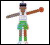 Basketball    Player Pony Bead Pattern  : Basketball crafts ideas for kids
