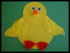 Baby Chick Collage : Bird Crafts for Children