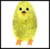 Fingerprint Chicks : Bird Crafts for Children