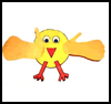 Handprint Chick Paper Craft : Bird Crafts Activities for Kids