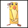 Chick Toilet Paper Roll Craft : Bird Crafts Activities for Kid