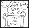 Online-Coloring-Pictures    : Blue's Clues Coloring Printables