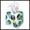 Photo-Collage Tissue Box Cover : Crafts Using Cardboard Boxes for Kids