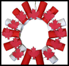 Canada   Day Wreath  : Patriotic Canadian Crafts Ideas for Children
