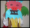 Chinese   Lion Dance Costume  : Chinese New Year Crafts Ideas for Kids