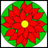 Poinsettia   Paper Plate   : Christmas Poinsettias Crafts Idesa for Children