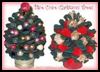 Mini Pine Cone Christmas Trees : Make Christmas Trees Arts and Crafts Projects