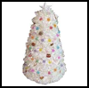 Light Up White Christmas Tree : Christmas Tree Crafts for Kids