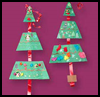 Christmas Triangle Trimming : Christmas Tree Crafts for Kids