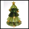 Crimped Paper Tree : Christmas Tree Crafts for Kids
