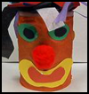 Clever    Clown Bank  : Clown Crafts Ideas for Kids