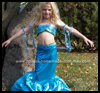 Homemade Blue Mermaid Costume