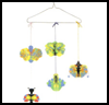 Butterfly   Mobile  : Clothes Hangers Crafts Ideas For Children