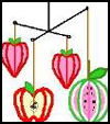 3-D   Fruit Craft  : Crafts with Clothes Hangers for Kids