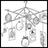 Christmas   Card Mobile  : Clothes Hangers Crafts Ideas For Children