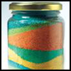 Glass   Jar Sand Painting   : Alternative Uses for Baby Food Jars