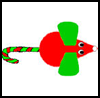 Candy   Cane Mouse Christmas  : Christmas Candy Cane Crafts for Kids