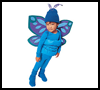 Blue   Butterfly Costume  : Cellophane Crafts Ideas for Kids