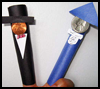 Presidents'    Day Finger Puppets : Arts and Crafts Learning Project with Coins