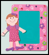 Fashion Girl Locker Frame : Crafts with Crafts Foam for Children