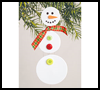 Dangling    Snowman   : Crafts with Craft Foam Sheets for Children