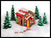 Faux    Gingerbread House   : Crafts with Craft Foam Sheets for Children