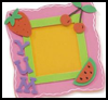 Fruity Foam Frame : Craft Foam Activities