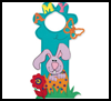 Bunny    Door Hanger  : Crafts with Craft Foam for Kids