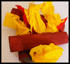 Campfire   Craft  : Crafts with Crepe Paper for Kids