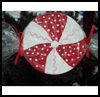 Peppermint Ornament : Lollipop Crafts for Kids