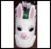 Easter   Bunny Can Basket  : Crafts with Metal Cans for Children