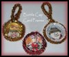 Recycled Bottle Cap Christmas card Frames : Crafts with Metal Activities for Children