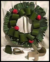 Cardboard Tube and Newspaper Christmas Wreaths